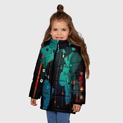 Куртка зимняя для девочки Digital world цвета 3D-черный — фото 2