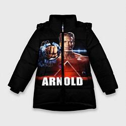 Куртка зимняя для девочки Iron Arnold цвета 3D-черный — фото 1