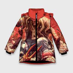 Куртка зимняя для девочки Dead island 5 цвета 3D-черный — фото 1