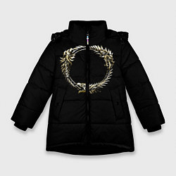Куртка зимняя для девочки TES 8 цвета 3D-черный — фото 1