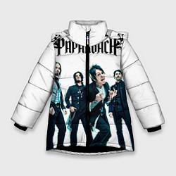 Куртка зимняя для девочки Paparoach Band цвета 3D-черный — фото 1