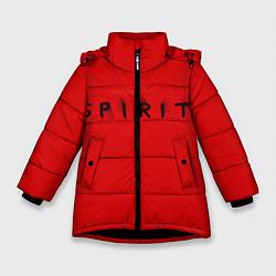 Куртка зимняя для девочки DM: Red Spirit цвета 3D-черный — фото 1