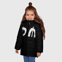 Куртка зимняя для девочки DM Rock цвета 3D-черный — фото 2