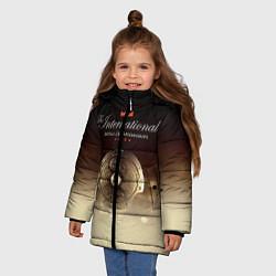 Куртка зимняя для девочки The International Championships цвета 3D-черный — фото 2