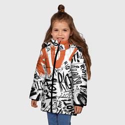 Куртка зимняя для девочки Paramore: Riot цвета 3D-черный — фото 2