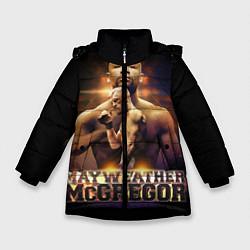 Куртка зимняя для девочки Mayweather vs McGregor цвета 3D-черный — фото 1
