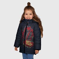 Куртка зимняя для девочки The Weeknd: Beauty Behind цвета 3D-черный — фото 2