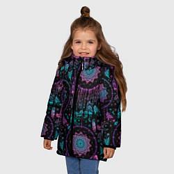 Куртка зимняя для девочки Ловцы снов цвета 3D-черный — фото 2