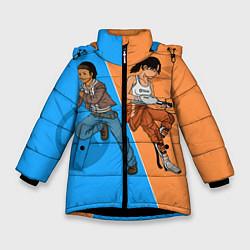 Куртка зимняя для девочки Half-Portal цвета 3D-черный — фото 1
