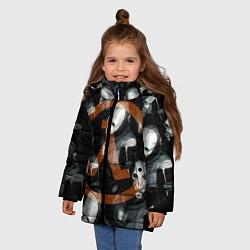 Куртка зимняя для девочки Альянс не дремлет цвета 3D-черный — фото 2