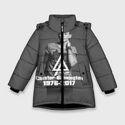 Куртка зимняя для девочки Память о Беннингтоне цвета 3D-черный — фото 1