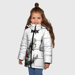 Куртка зимняя для девочки Bennington Song цвета 3D-черный — фото 2