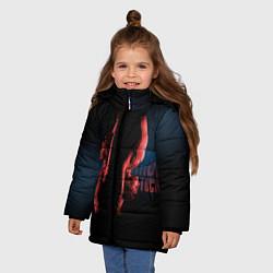 Куртка зимняя для девочки Ariana Grande: Dangerous tour цвета 3D-черный — фото 2