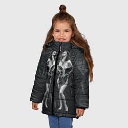 Куртка зимняя для девочки Bjork цвета 3D-черный — фото 2