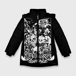 Куртка зимняя для девочки Dethklok: Metalocalypse цвета 3D-черный — фото 1