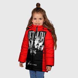 Детская зимняя куртка для девочки с принтом Dethklok: Knitting factory, цвет: 3D-черный, артикул: 10134389506065 — фото 2