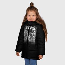 Куртка зимняя для девочки Dethklok: Demons цвета 3D-черный — фото 2