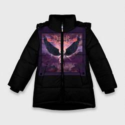 Детская зимняя куртка для девочки с принтом Dethklok: Angel, цвет: 3D-черный, артикул: 10134390106065 — фото 1