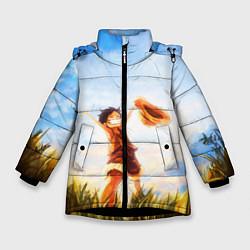 Куртка зимняя для девочки Ван-Пис цвета 3D-черный — фото 1