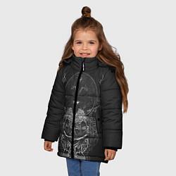 Куртка зимняя для девочки Wolves in the Throne Room цвета 3D-черный — фото 2