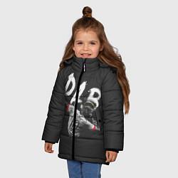 Куртка зимняя для девочки Paul Pogba: Dab цвета 3D-черный — фото 2