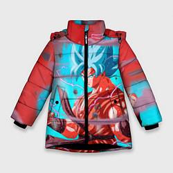 Куртка зимняя для девочки Goku Strength цвета 3D-черный — фото 1