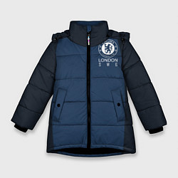 Куртка зимняя для девочки Chelsea FC: London SW6 цвета 3D-черный — фото 1