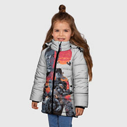 Куртка зимняя для девочки Halo Wars цвета 3D-черный — фото 2
