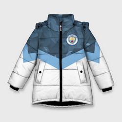 Куртка зимняя для девочки Manchester City FC: Sport цвета 3D-черный — фото 1