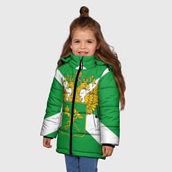 Куртка зимняя для девочки Таможня цвета 3D-черный — фото 2