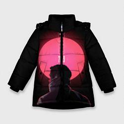 Куртка зимняя для девочки Blade Runner: Acid sun цвета 3D-черный — фото 1