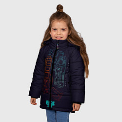 Куртка зимняя для девочки Blade Runner Guns цвета 3D-черный — фото 2