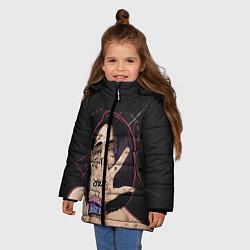 Куртка зимняя для девочки Face Star цвета 3D-черный — фото 2