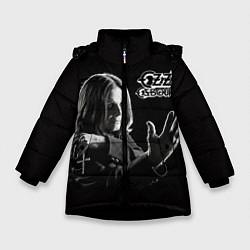 Куртка зимняя для девочки Оззи Осборн цвета 3D-черный — фото 1