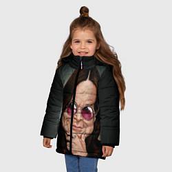 Детская зимняя куртка для девочки с принтом Оззи Осборн, цвет: 3D-черный, артикул: 10138083706065 — фото 2