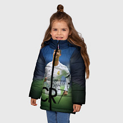 Куртка зимняя для девочки CR7 цвета 3D-черный — фото 2