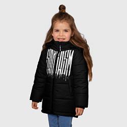 Куртка зимняя для девочки Sarcasm цвета 3D-черный — фото 2