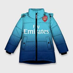 Куртка зимняя для девочки Arsenal FC: Blue Away 17/18 цвета 3D-черный — фото 1
