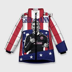 Куртка зимняя для девочки Griezmann: Atletico Star цвета 3D-черный — фото 1