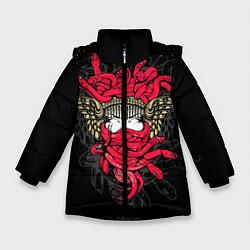 Куртка зимняя для девочки Горгона Медуза - фото 1