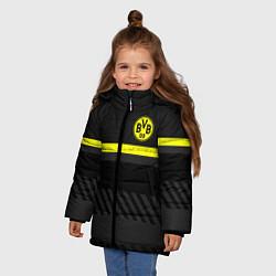 Куртка зимняя для девочки FC Borussia 2018 Original #3 цвета 3D-черный — фото 2