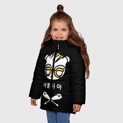 Куртка зимняя для девочки Rainbow Six Siege: Dokkaebi цвета 3D-черный — фото 2