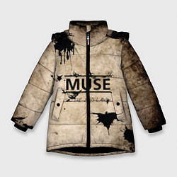 Куртка зимняя для девочки Muse: the 2nd law цвета 3D-черный — фото 1