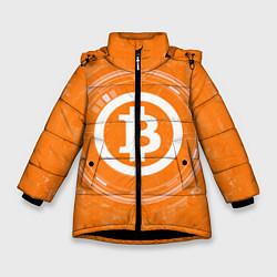 Куртка зимняя для девочки Bitcoin Tech цвета 3D-черный — фото 1