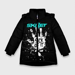 Куртка зимняя для девочки Skillet: Sick of it цвета 3D-черный — фото 1