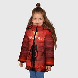 Куртка зимняя для девочки Dark Souls: Red Sunrise цвета 3D-черный — фото 2
