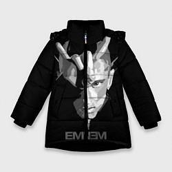 Куртка зимняя для девочки Eminem B&G цвета 3D-черный — фото 1