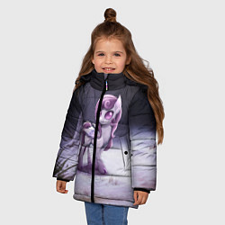 Детская зимняя куртка для девочки с принтом Violet Pony, цвет: 3D-черный, артикул: 10146367906065 — фото 2
