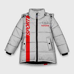 Куртка зимняя для девочки Toyota: Silver Sport цвета 3D-черный — фото 1