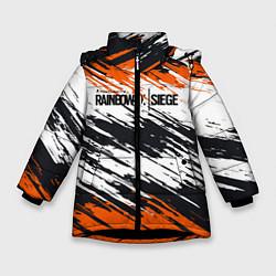 Куртка зимняя для девочки Rainbow Six Siege: Orange цвета 3D-черный — фото 1